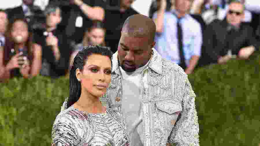 Kim Kardashian e Kanye West - Getty Images