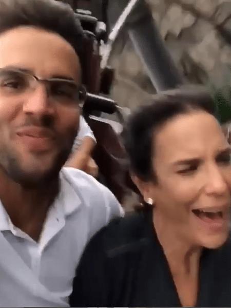 Daniel Cady e Ivete Sangalo em montanha-russa  - Reprodução/Instagram