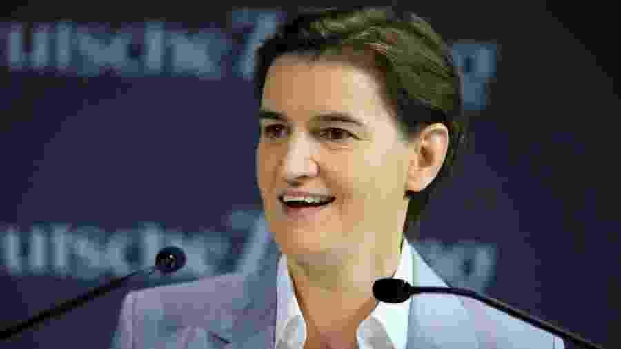 A primeira-ministra sérvia Ana Brnabic se tornou mãe - Getty Images