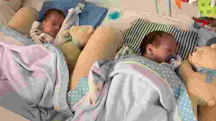 Os bebês, Theo e Thomás, terão a presença do pai, Everton, pelos seis meses da licença parental - Arquivo Pessoal - Arquivo Pessoal