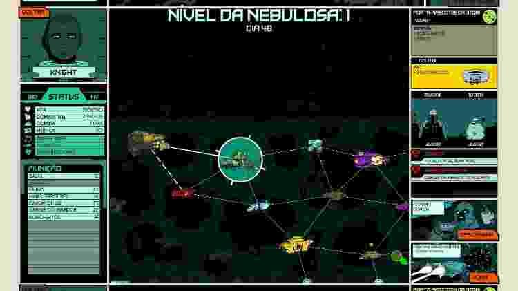 Use o mapa da Nebulosa para receber informações importantes sobre as naves. - Reprodução
