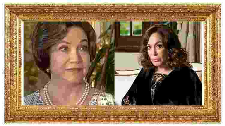 Nathalia Timberg interpretou tia Emília, que será vivida por Susana Vieira - Reprodução/SBT/Globo/Raquel Cunha/Montagem UOL