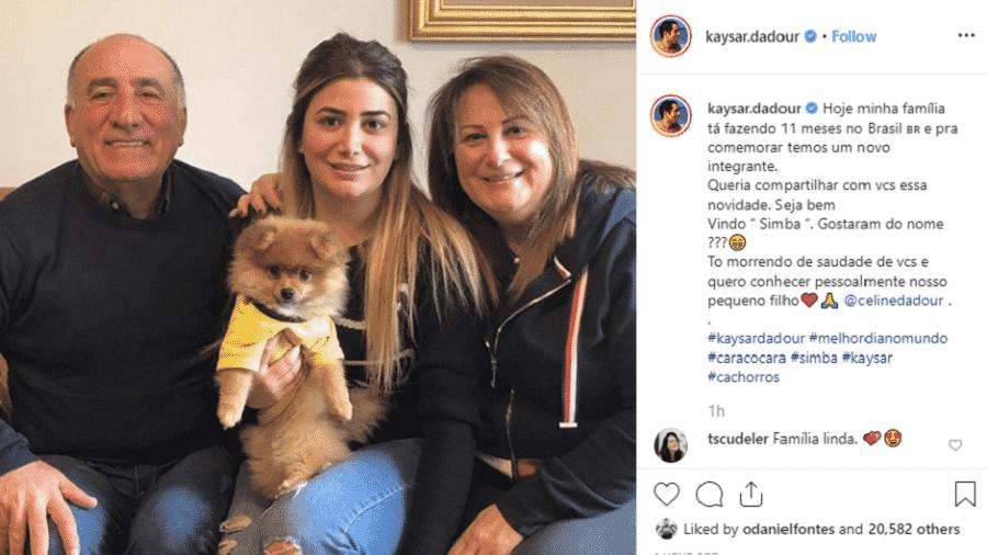 Kaysar publicou foto da família - Reprodução/Instagram