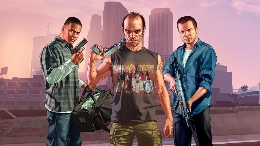 """""""GTA V"""" foi lançado em 2013, e ganha atualizações online até hoje - Divulgação"""