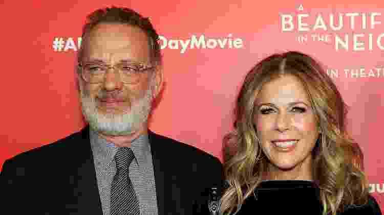 17.11.2019 - Tom Hanks e Rita Wilson em pré-estreia do filme Um Lindo Dia na Vizinhança, em Nova York - FilmMagic - FilmMagic