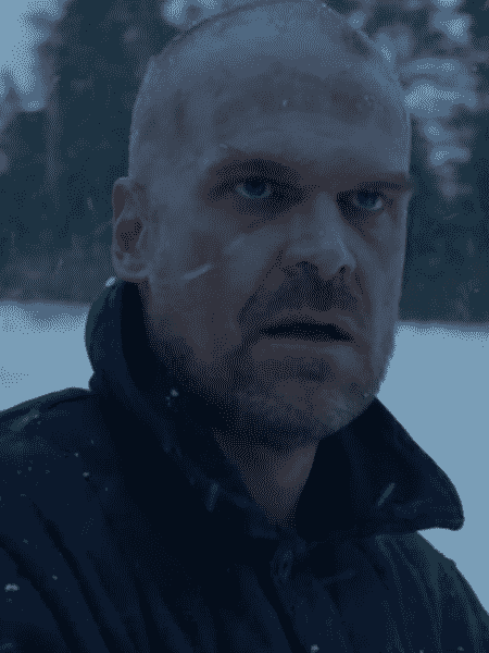 David Harbour como Hopper no teaser de Stranger Things 4 - Reprodução/YouTube