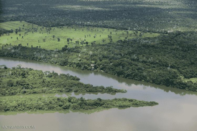 Mongabay: Rio no Mato Grosso, em trecho do Arco do Desmatamento, no sul da Amazônia - Rhett Butler/Mongabay - Rhett Butler/Mongabay