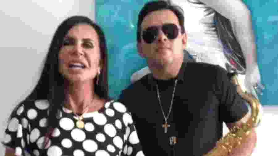 Gretchen e Esdras Souza fazem cover de Anahí nas redes sociais - Reprodução/Instagram