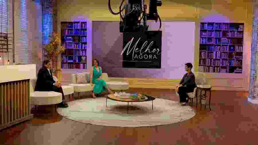 Mariana Godoy (à dir.) em entrevista com Catia Fonseca e Ronnie Von - Arquivo Pessoal