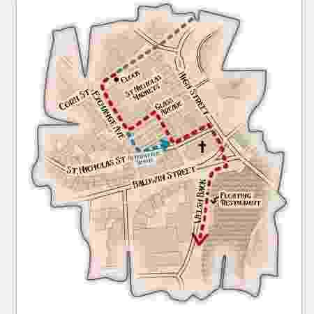 Mapa do Treasure Hunt Oxford - Divulgação - Divulgação