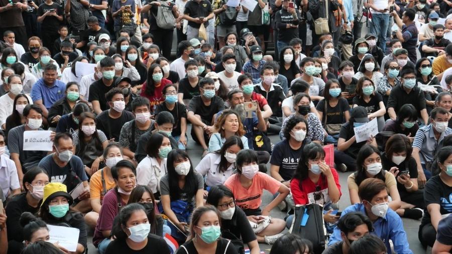 Protesto pró-democracia em Bangkok, na Tailândia - iStock