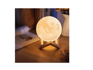 Luminária 3D Touch Lua Cheia - Divulgação - Divulgação
