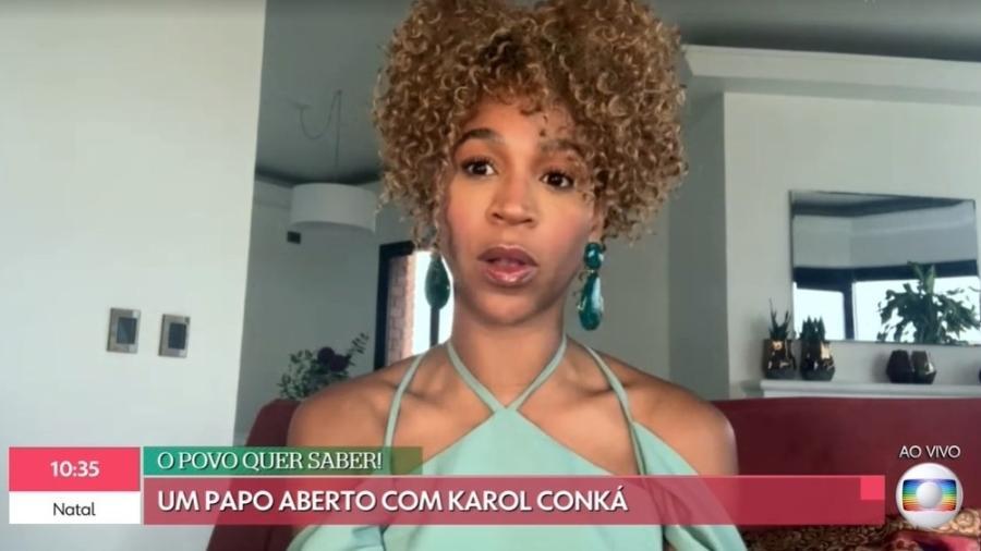 """Karol Conká fala sobre """"BBB 21"""" - Reprodução Globo"""
