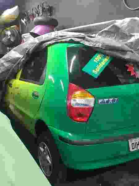 Fiat Palio do Penta sorteado para a Fundação Cafu - @abandonados.br - @abandonados.br