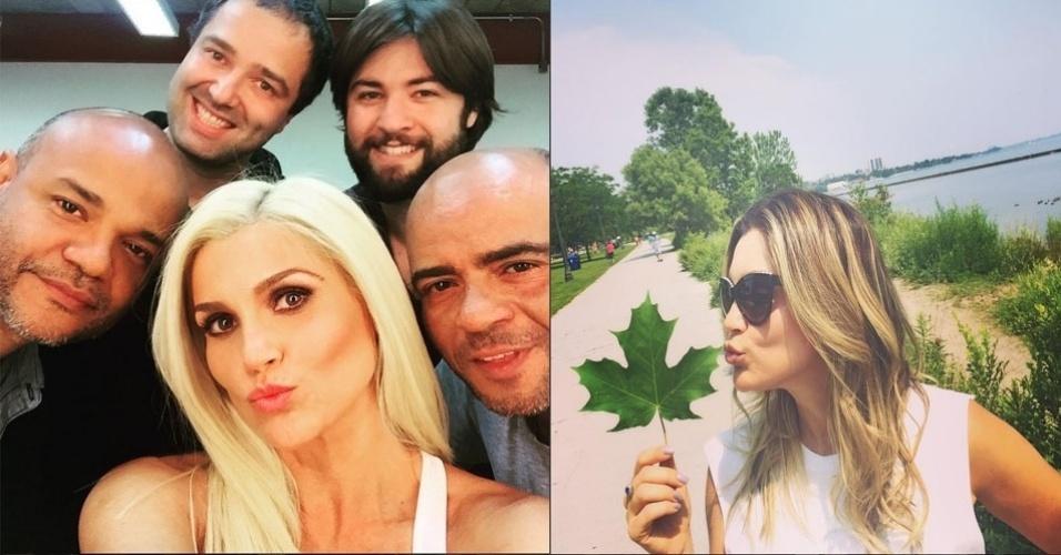 10.ago.2015 - Flavia Alessandra radicalizou e aderiu ao loiro platinado. Na noite desta segunda-feira, a atriz mostrou o seu novo look no seu perfil no Instagram.