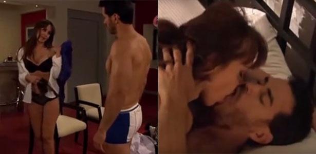 """SBT corta cenas com personagem de Gabriela Spanic de lingerie e fazendo sexo na novela """"A Dona"""""""