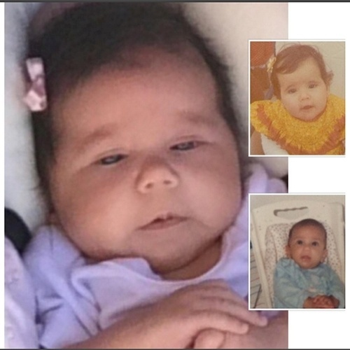12.jan.2016 - Deborah Secco postou uma montagem com as fotos de sua filha, Maria Flor, a comparando com ela e o pai, Hugo Moura, em fotos de quando eram crianças