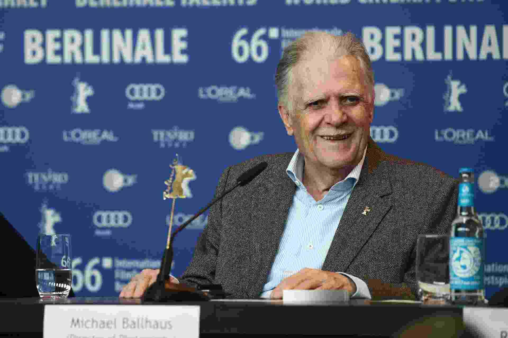 18.fev.2016 - 18.fev.2016 - Michael Ballhaus participa de coletiva de imprensa no Festival de Berlim. O diretor de fotografia alemão de 80 anos receberá um Urso de Ouro honorário em reconhecimento à sua carreira e contribuição para o cinema - Andreas Rentz/Getty Images