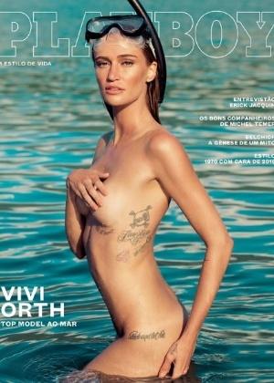 """Capa da """"Playboy"""", com a modelo Vivi Orth - Reprodução/Instagram/oficialplayboybrasil"""