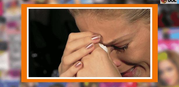Assim com em sua primeira entrevista após o crime (foto), Ana chorou ontem durante gravação  - Reprodução/TV UOL