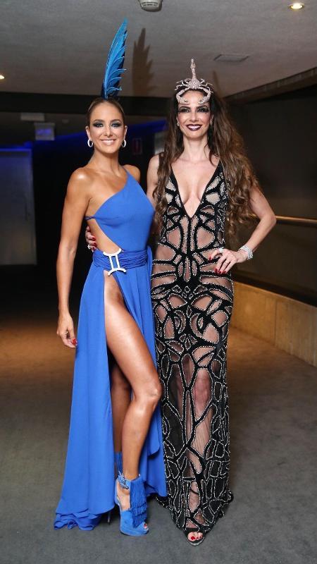 As apresentadoras Luciana Gimenez e Ticiane Pinheiro, no Baile de Carnaval da Vogue, no hotel Unique, em São Paulo - Manuela Scarpa e Iwi Onodera/Brazil News