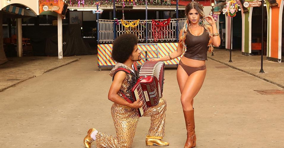 Após superar câncer, Cacau Colucci volta ao carnaval pelo quinto ano como musa da Dragões da Real