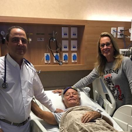 Helô Pinheiro acompanha o marido, Fernando, ao hospital - Reprodução/Instagram