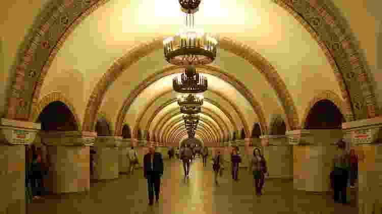Estação de metrô Zoloti Vorota, em Kiev - AMY / Wikimedia Commons / CC BY-SA 3.0 - AMY / Wikimedia Commons / CC BY-SA 3.0