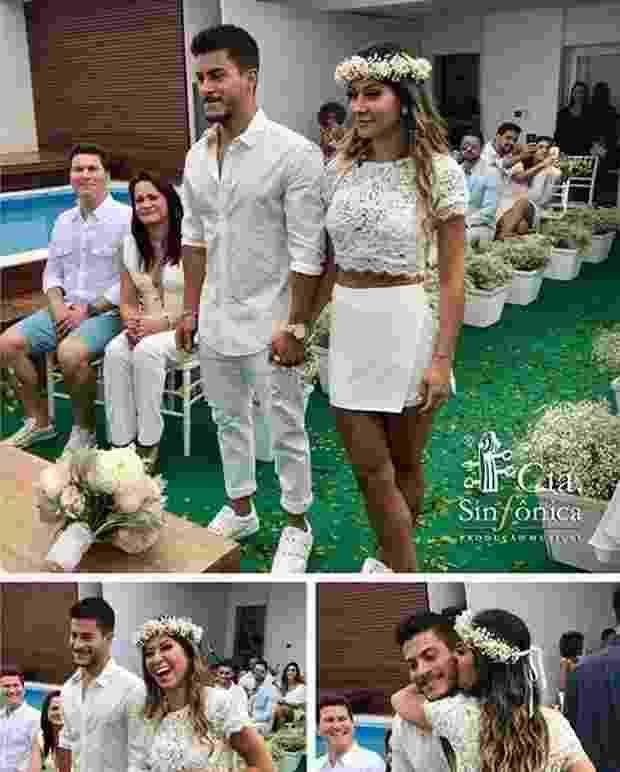 o ator Arthur Aguiar e a empresária e ex-BBB Mayra Cardi trocaram alianças. - Reprodução/Instagram