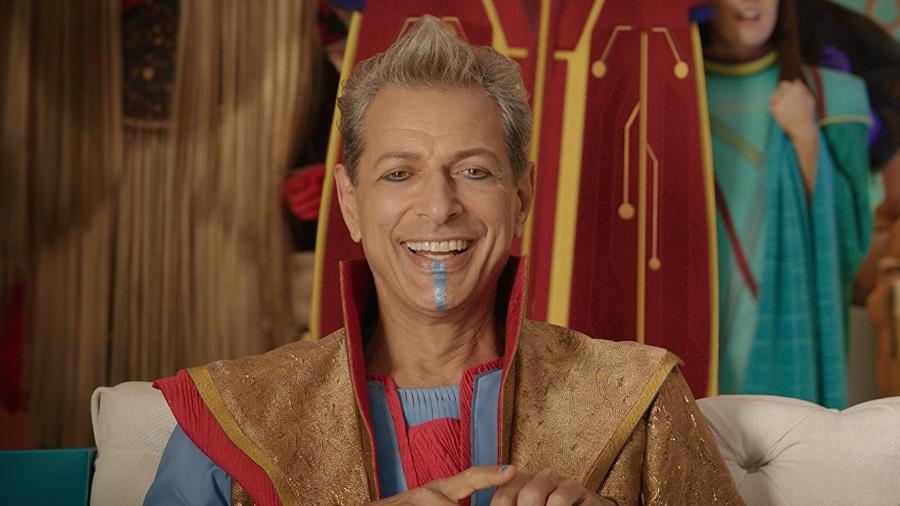 """Jeff Goldblum como o Grão-Mestre em """"Thor: Ragnarok"""" - Divulgação"""