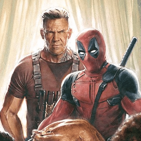 Deadpool e Cable em pôster do filme - Reprodução