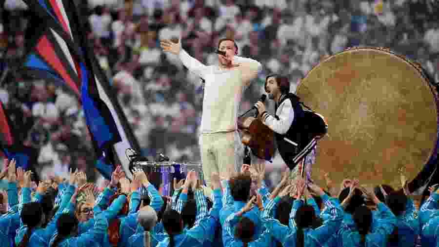 Imagine Dragons se apresenta na final da Liga dos Campeões - JAVIER SORIANO / AFP
