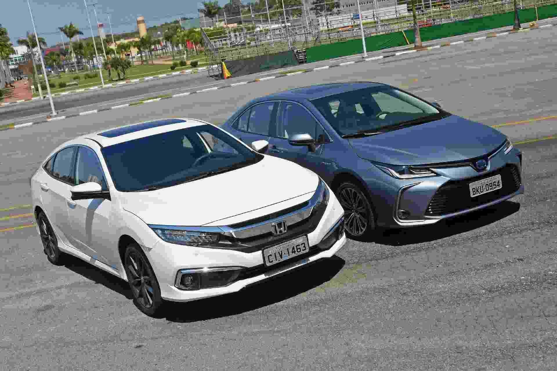 Duelo: Toyota Corolla Altis Hybrid x Honda Civic Touring - Murilo Góes/UOL