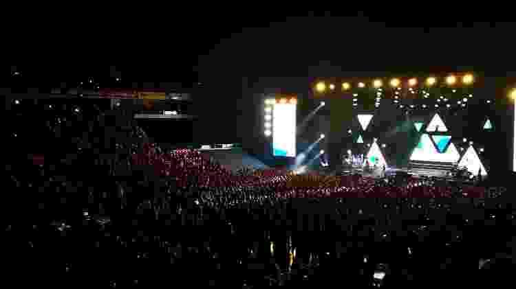 Público no show de Sandy e Junior em Lisboa: maioria de brasileiros - UOL