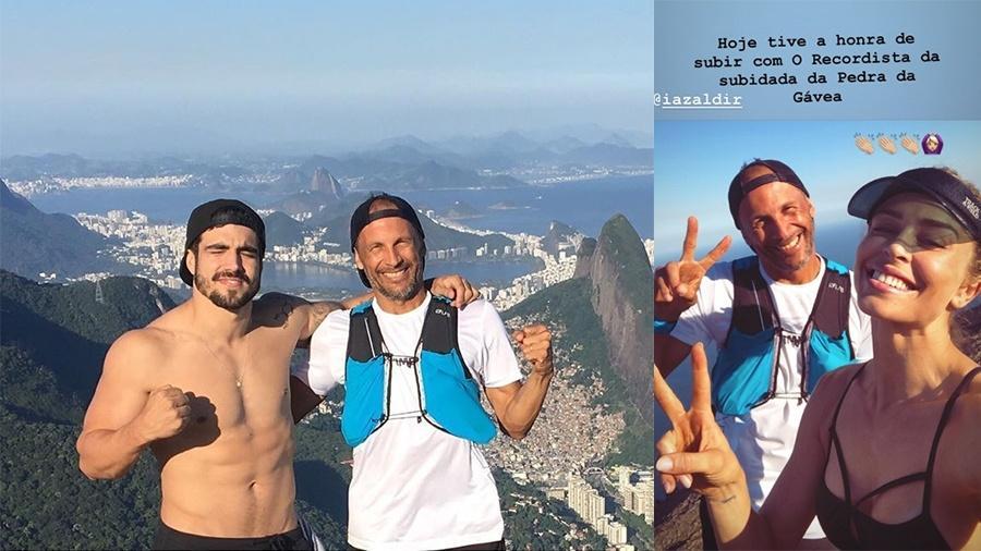 Caio Castro e Grazi Massafera fazem trilha pela Pedra da Gávea juntinhos - Reprodução/Instagram