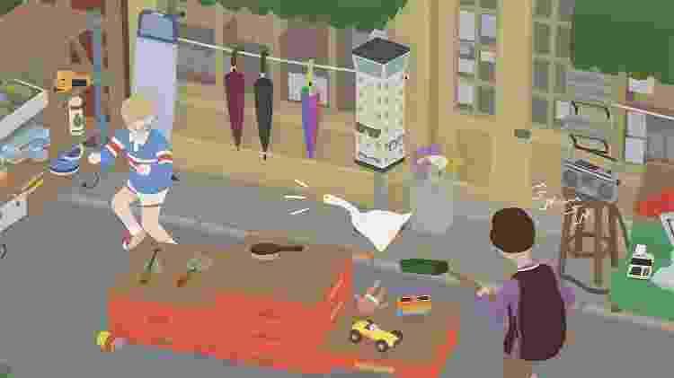 """Em """"Untitled Goose Game"""", jogador controla um ganso que precisa roubar objetos e promover o caos em uma pequena vila - Divulgação"""