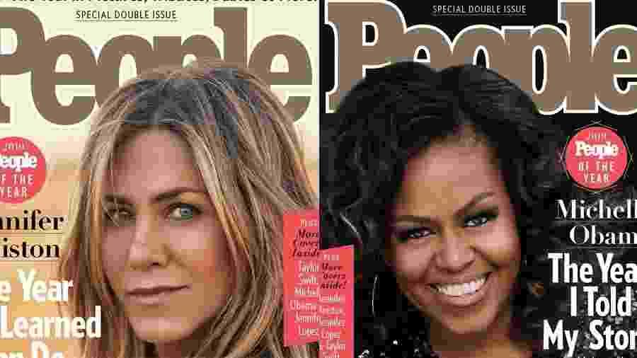 Jennifer Aniston e Michelle Obama estão na capa da People como Pessoas do Ano em 2019 - Reprodução/People