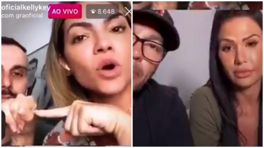 Kelly Key dá aula de sexo anal para Gracyanne - Instagram/Reprodução