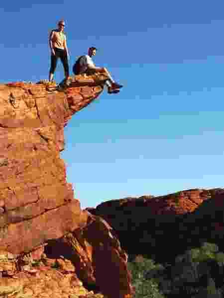 Michelle Weiss e Roy Rudnick, em Kings Canyon, Austrália - Arquivo pessoal - Arquivo pessoal