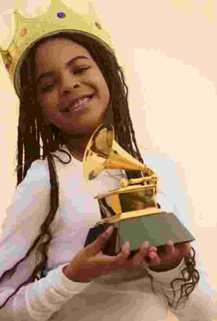 Blue Ivy com prêmio Grammy - Reprodução/Instagram@beyonce - Reprodução/Instagram@beyonce