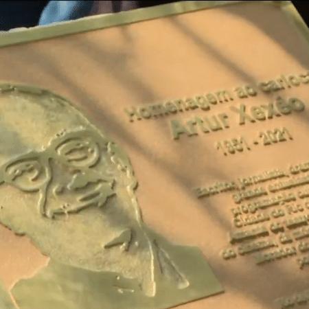 Prefeitura inaugura placa de homenagem a Artur Xexéo em Copacabana, na zona sul do Rio - Reprodução/Globonews