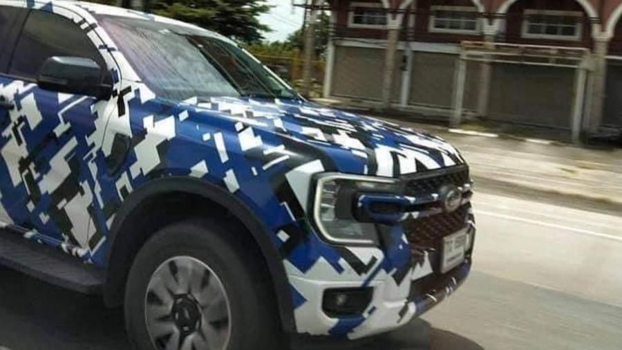 Nova geração da Ranger é flagrada com pouca camuflagem durante testes na Austrália; picape será lançada no Brasil em 2023 - Reprodução