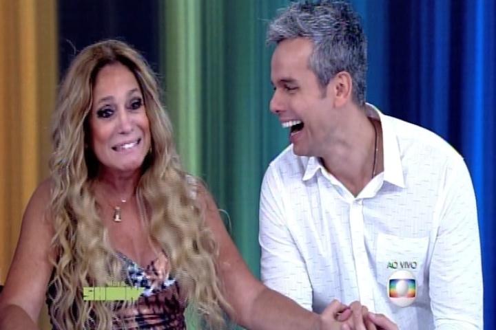 """Susana Vieira com Otaviano Costa no """"Vídeo Show"""""""