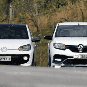 speed up! vs. Renault Sandero RS - Murilo Góes/UOL