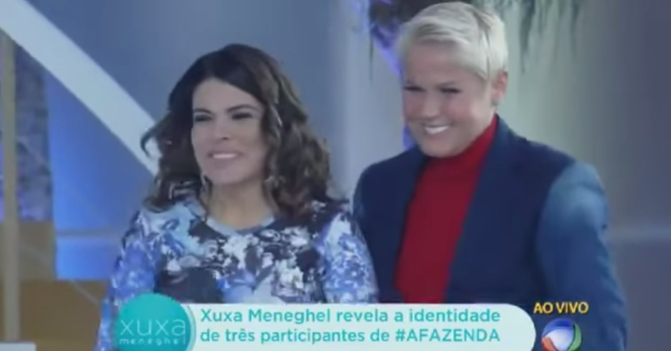 Xuxa recebe Mara Maravilha em seu programa na Record