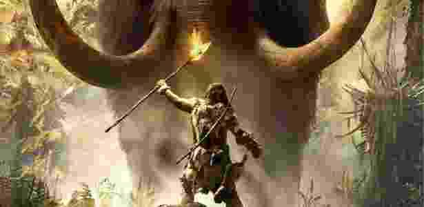 A pré-história está na moda nos games: Saem as armas de fogo e entram lanças, tacapes e flechas para encarar feras enormes! - Divulgação