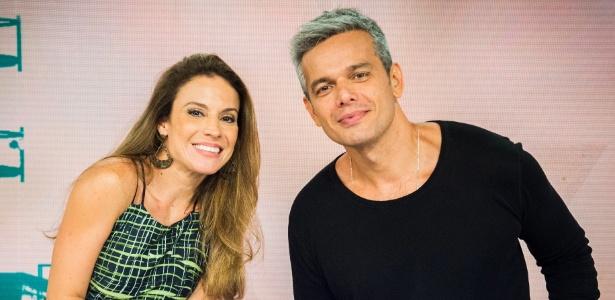 """Maira Charken e Otaviano Costa juntos na bancada do """"Vídeo Show"""" - Divulgação"""