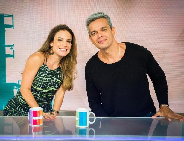 """Maíra Charken e Otaviano Costa juntos na bancada do """"Vídeo Show"""" - Divulgação"""