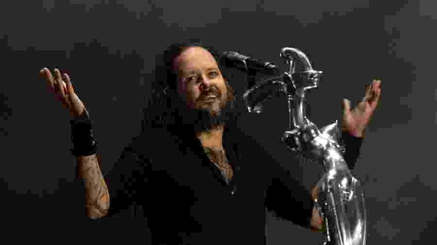 Jonathan Davis, vocalista do Korn - Patricia de Melo Moreira/AFP