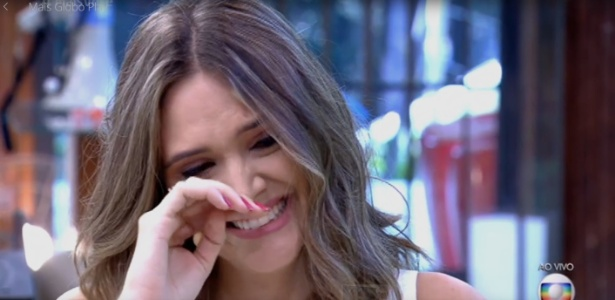 """Atriz Juliana Paiva se emociona com depoimento de Juliana Paes no """"Mais Você"""" - Reprodução/TV Globo"""